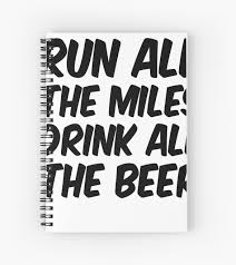 Run All The Miles Drink All The Beer Tank Womens Workout Top Womens Running Shirt Workout Motivation Funny Workout Shirt Gym Apparel Spiral