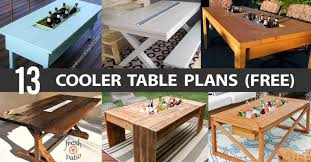 diy outdoor table with cooler. Cooler Table Plans Diy Outdoor With A