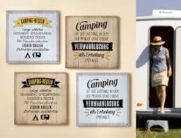 1 X Schild Weisheit Camping Hellbraun Spruch Camping Ist Der