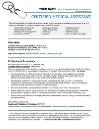 Resumes For Medical Assistants