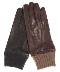 men s italian leather gloves with cashmere lining and cuff