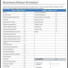 Net Worth Worksheet Excel Ericremboldt Com