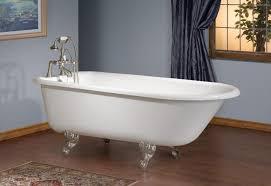 cheviot cast iron 61 traditional roll rim clawfoot bathtub for tub wall mount faucet