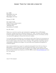 Thank You Letter After Career Fair Email Mediafoxstudio Com
