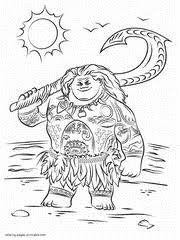 Moana Coloring Pages Printable Free Pictures 30 Pics
