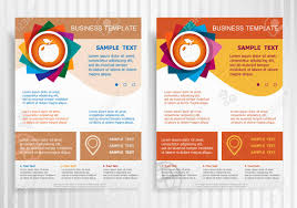 Apple Flyer Templates Apple Icon On Abstract Vector Brochure Template Flyer Layout