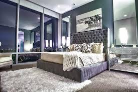 superb mirrored nightstand in bedroom