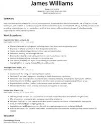 Hair Stylist Resume Example Examples Hairdressers And Sample