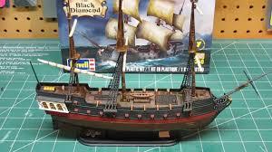 revell 1 350 black diamond pirate ship model kit build up part 3 final you