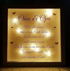 Led Leuchtbild Bild Rahmen Geschenk Zitat Spruch Gedicht Oma Opa Großeltern