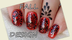 Cuticle Design Nail Art Tutorial My Fall Design And Cuticle Tattoo