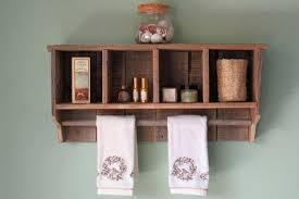 bathroom wall shelf with towel bar wall