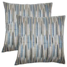 striped throw pillows. Unique Throw Set Of 2 Oceane Striped Throw Pillows In Shore With