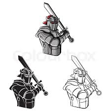 coloring book knight warrior cartoon character stock vector colourbox