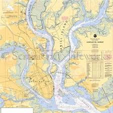 Charleston Nautical Chart South Carolina Daniel Island Charleston Cooper River