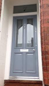 exterior wooden doors uk. vicki\u0027s \u0027raf blue\u0027 grand victorian front door with etched glazing in timperley - www exterior wooden doors uk