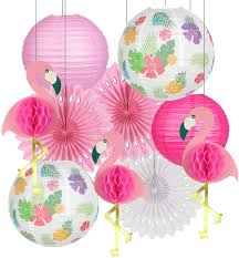 Summer spring butterfly hanging swirl party supplies 30 pack butterfly party decor for kids butterfly birthday baby shower decorations foil ceiling streamers decor for wedding tea party girls 1st birthday party. Buy Flamingo Party Decorations Hawaiian Party Supplies Tropical Leaves Hanging Paper Lanterns Flamingo Honeycomb Tissue Paper Fans For Luau Beach Summer Party Home Decoration Party Pink Online In Uzbekistan B0854m818p