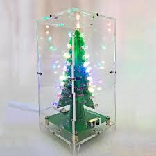 Led Water Lights Led Christmas Tree Water Lights Flash Diy Kit Electronic Diy Christmas Lamp Production Parts Suite Dc4 5 5v