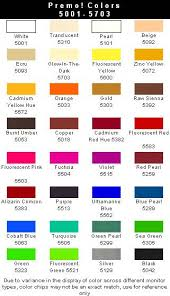 Premo Color Mixing Chart Premo Sculpey Color Chart Polymer Clay Polymer Clay