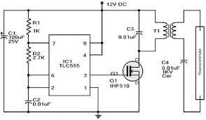 rangkaian 12vdc fluorescent lamp driver jpg 12 fluorescent light wiring diagram wiring diagram schematics 400 x 234