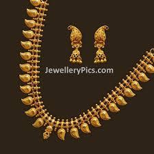 Mango Design Gold Chain Mango Long Chain Gold Earrings Designs