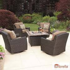 cover for outdoor furniture. Agio Kingsley 5 Piece Woven Fire Chat Set + Cover For Outdoor Furniture