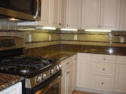 kitchen backsplash glass tile white cabinets. Green Glass Subway Tiled Backsplash With White Kitchen Tile Cabinets C