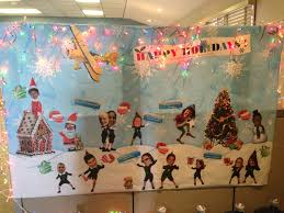 holiday decorations for the office. Cubicle Office Mural Holiday Decoration Decorations For The