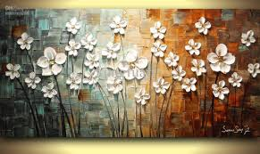 hand painted heavy textured framed oil painting wall art