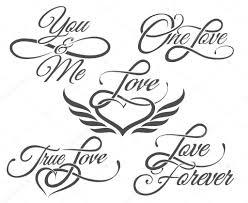 Láska Ve Stylu Tattoo Písma Stock Vektor Bogadeva 99106638