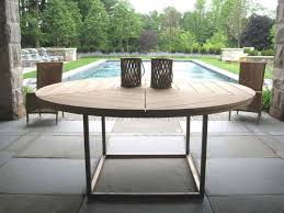 round outdoor dining sets. Perfect Dining 10 Easy Pieces Round Wood Outdoor Dining Tables Gardenista  Table Throughout Sets