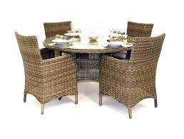 wicker glass table and chairs patio