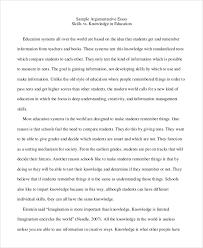 Academic Argument Essay Examples 9 Argumentative Essay Samples Examples Templates