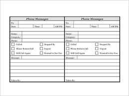 Phone Log Example