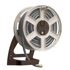 cast aluminum decorative hose stand wall mount hose reels storage watering irrigation the home