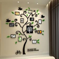 Small Picture Decor Buy Tree Photo Frame Crystal Wall Stickers for price