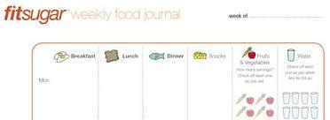 Fitsugars Printable Food Journal Popsugar Fitness