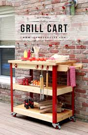tutorial on how to build a diy rolling outdoor grill cart free plans