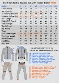suit jacket size guide