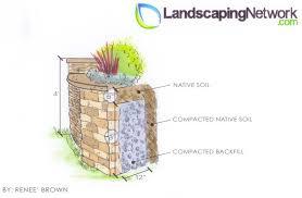 retaining wall drawing landscaping network calimesa ca