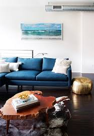 Colorfully Cushioned Blue Couches amp Chairs Apartment Therapy