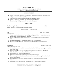 Chef Resume Example Assistant Pastry Chef Resume Sample Objective Sampleses Executive 13