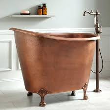 view in gallery copper clawfoot soaking mini tubjpgshort shower curtain liner tub short
