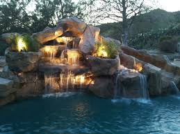 inground pools with waterfalls and slides. Slides With Stone Waterfall For Inground Pools | Rock Waterfalls Slide Added To Swimming Pool And N