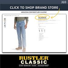 Rustler Jeans Size Chart Rustler Classic Mens Classic Regular Fit Jean At Amazon