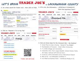 Petition To Bring Trader Joes To Lackawanna County The