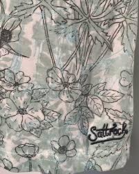 Rock Paper Flower Tunics Saltrock Green Floral Jersey Tunic Dress Top Size 10