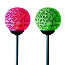 Solar Mosaic Crackle Ball Stake Light Globes Garden Lawn Solar Mosaic Garden Lights