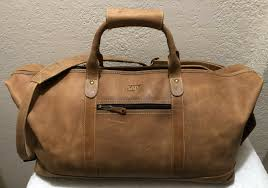 canyon outback soft buffalo leather 22 carry on duffel bag 1990 s from canyon outback
