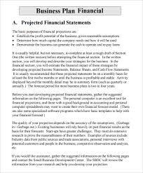 small business plans examples financial business plan templates 8 free premium word excel